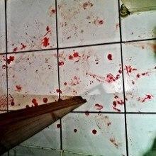 Blutspuren auf dem Boden