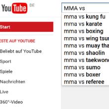 Youtube-Vorschläge zu